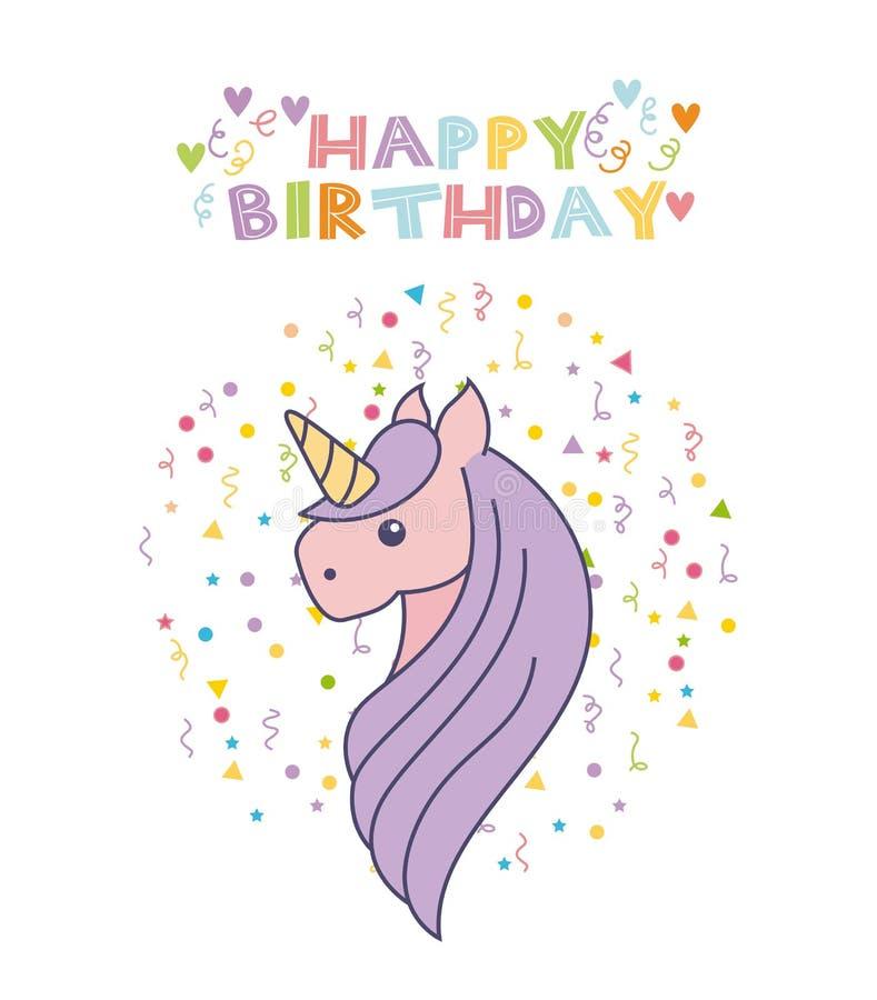 biglietto di auguri per il compleanno dell u0026 39 unicorno