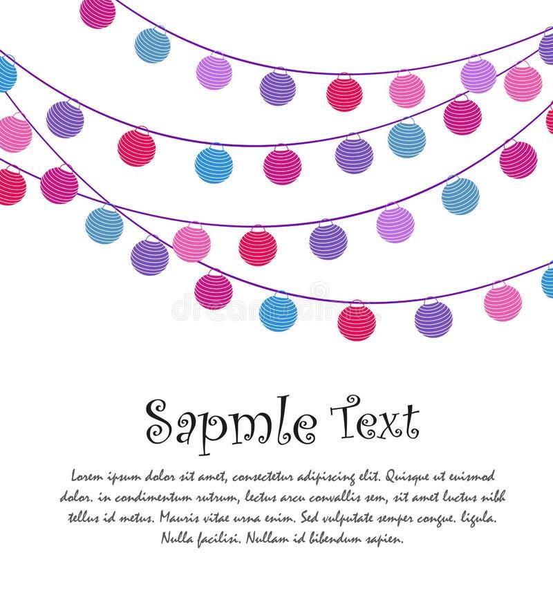 Biglietto di auguri per il compleanno felice, celebrazione del partito royalty illustrazione gratis