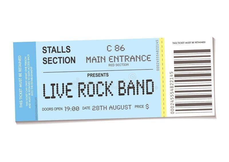 Biglietto di concerto illustrazione di stock
