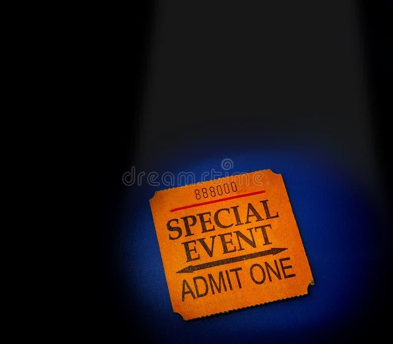 Biglietto di evento immagine stock