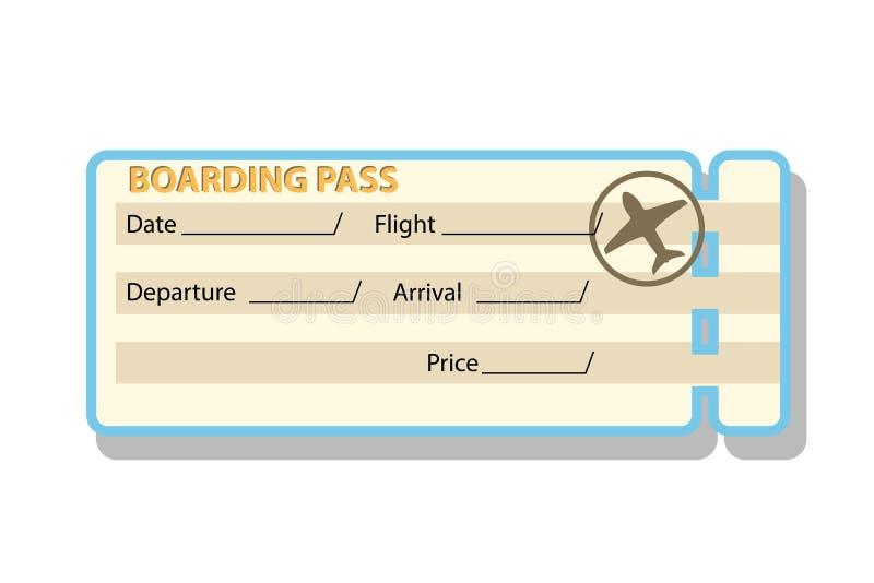 Biglietto di imbarco illustrazione di stock