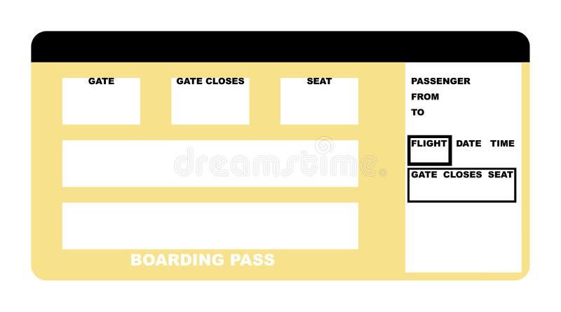 Biglietto di linea aerea illustrazione vettoriale