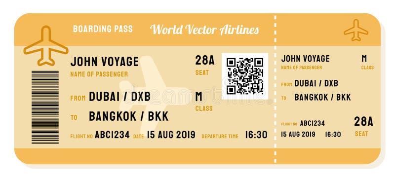 Biglietto di linea aerea royalty illustrazione gratis