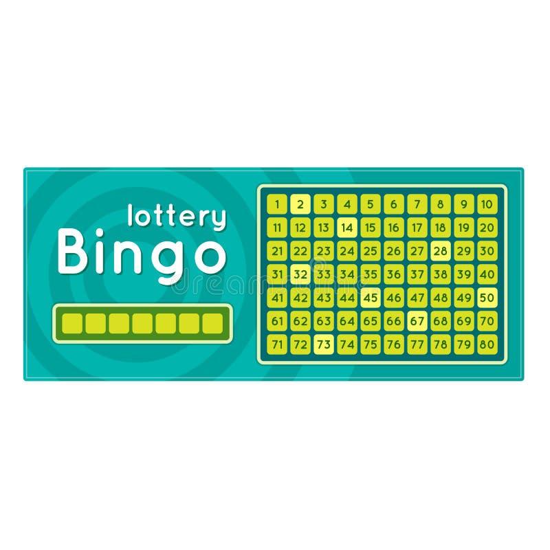 Biglietto di lotteria per vincere soldi, premi Gioco di bingo con i numeri royalty illustrazione gratis