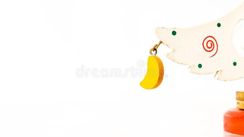 Biglietto di Natale decorato con il giocattolo immagini stock libere da diritti