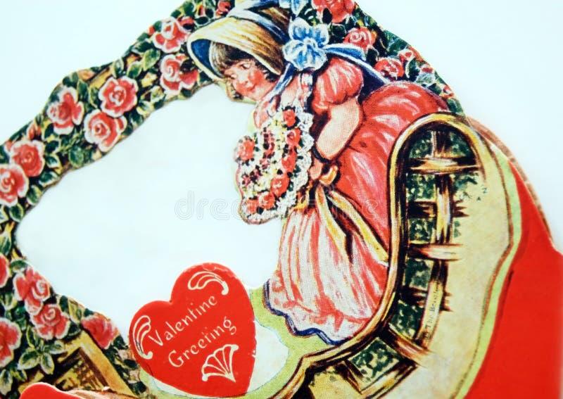 Biglietto di S. Valentino antico fotografia stock