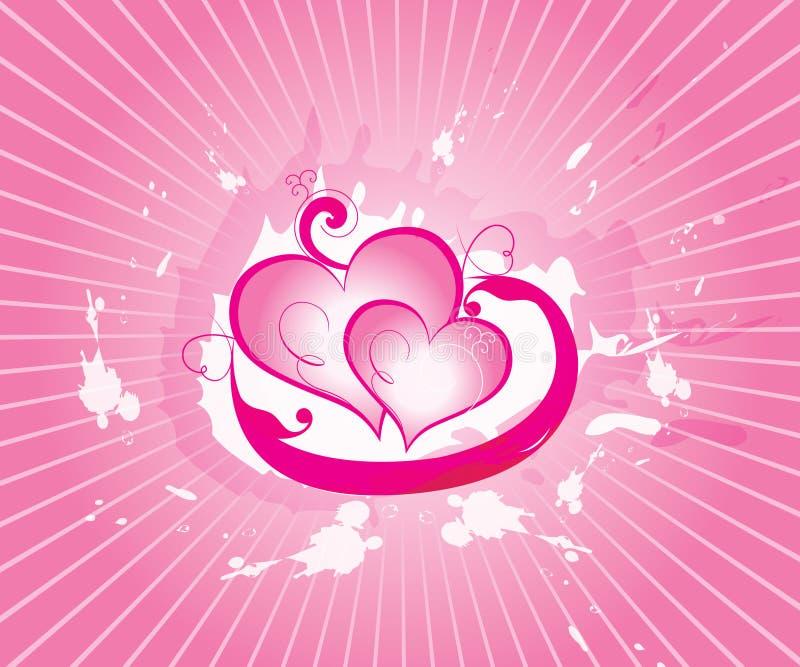 Biglietto di S. Valentino astratto di vettore illustrazione di stock
