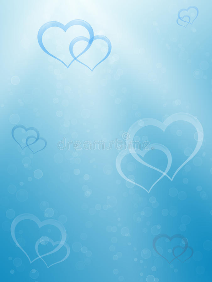 Biglietto di S. Valentino background#2 subacqueo royalty illustrazione gratis