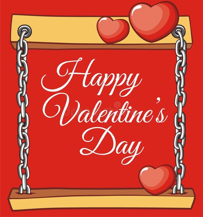 Biglietto di S. Valentino del bordo per la cartolina d'auguri di amore immagini stock libere da diritti