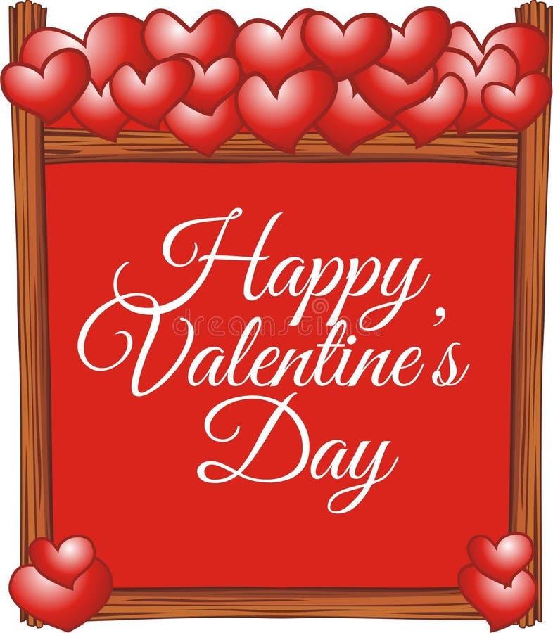 Biglietto di S. Valentino del bordo per la cartolina d'auguri di amore immagine stock