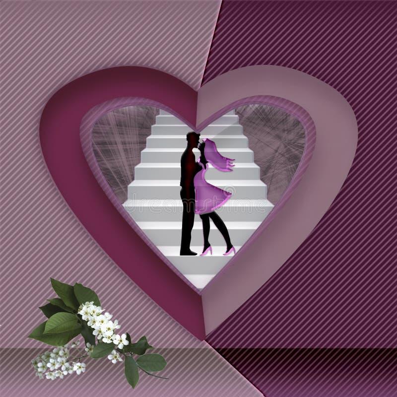 Biglietto di S. Valentino della cartolina d'auguri fotografia stock