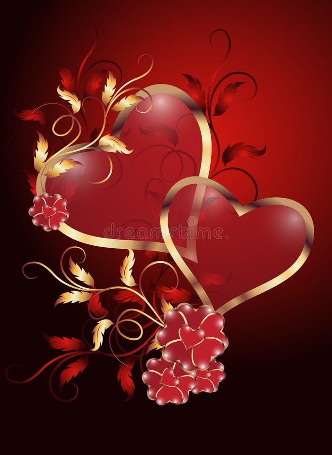 Biglietto di S. Valentino di giorno illustrazione vettoriale