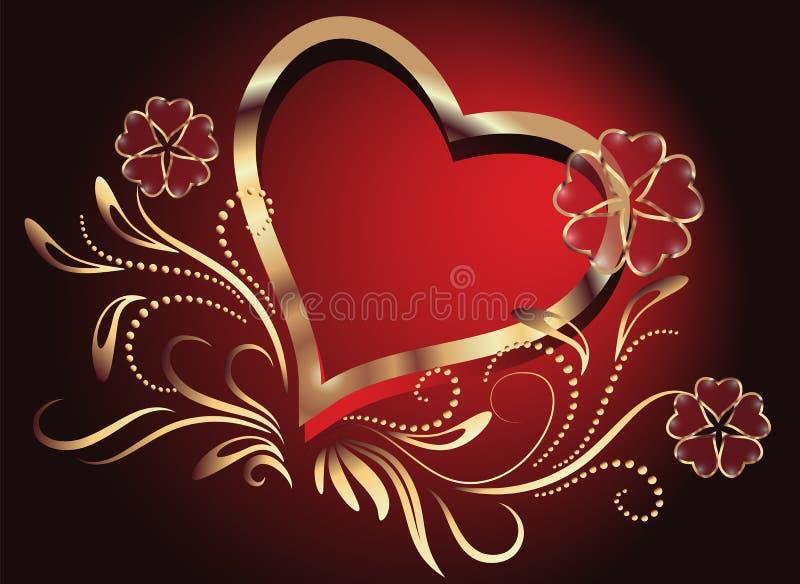 Biglietto di S. Valentino di giorno illustrazione di stock