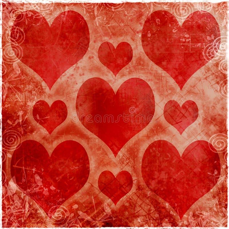 Biglietto di S. Valentino di Grunge royalty illustrazione gratis