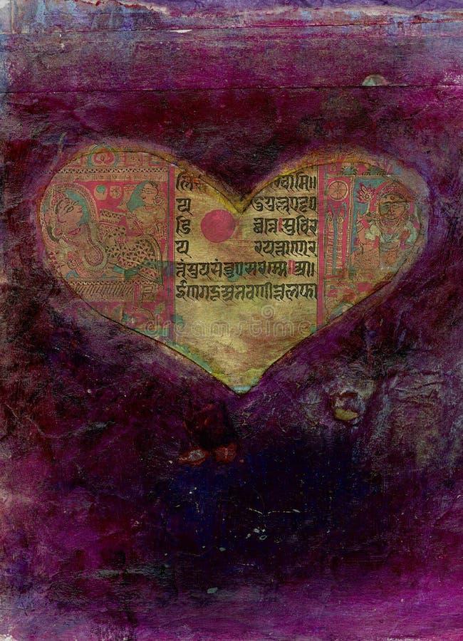 Biglietto di S. Valentino di yoga illustrazione vettoriale