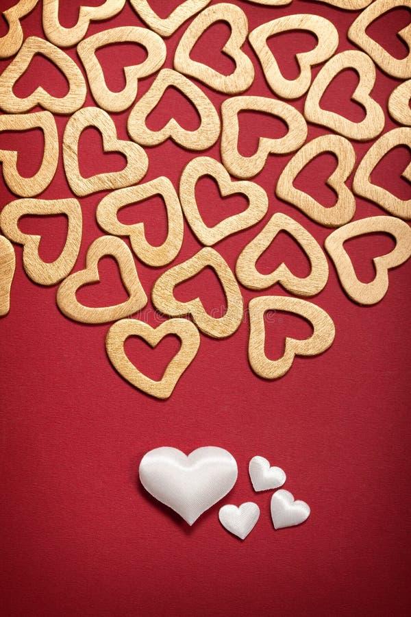 Biglietto di S. Valentino felice - cuori immagini stock