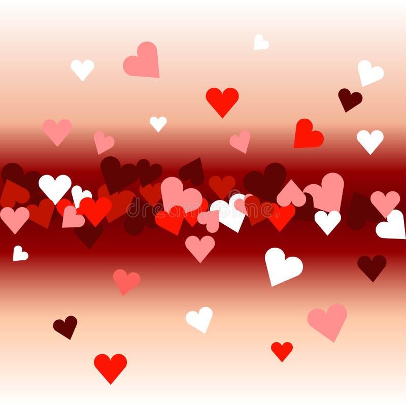 Biglietto di S. Valentino felice \ 'giorno di s Fondo dei cuori illustrazione vettoriale