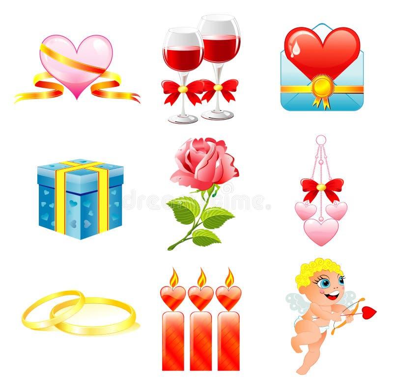 Biglietto di S. Valentino, icona di giorno di s royalty illustrazione gratis