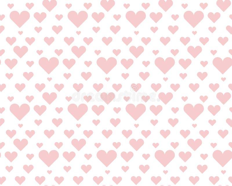 Biglietto di S. Valentino pallido - modello di pois senza cuciture rosa illustrazione di stock