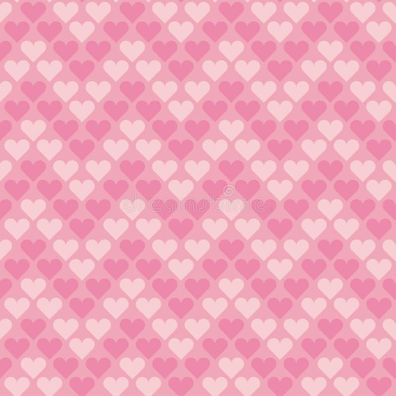 Biglietto di S. Valentino pallido - modello di pois senza cuciture rosa illustrazione vettoriale