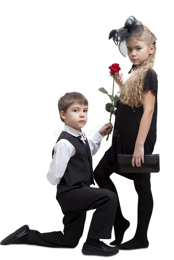 Biglietto di S. Valentino Rosa fotografie stock