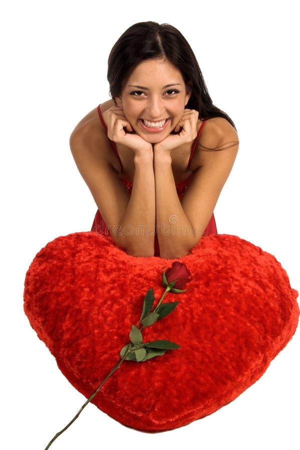 Biglietto di S. Valentino Rosa fotografie stock libere da diritti