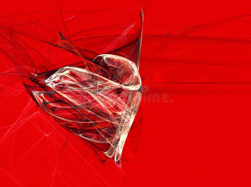 Biglietto di S. Valentino rosso illustrazione vettoriale