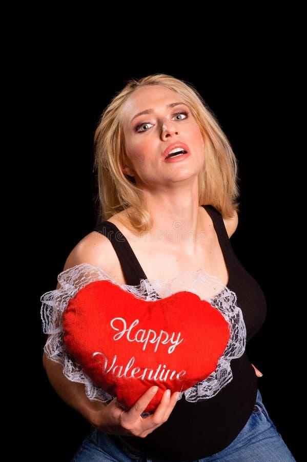 Biglietto di S. Valentino sexy caldo fotografia stock libera da diritti