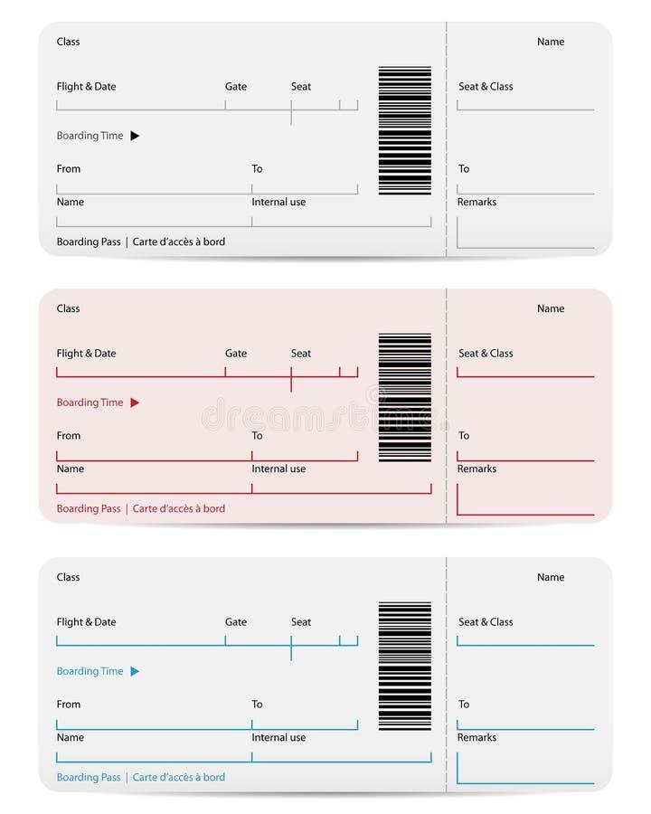 Biglietto di volo illustrazione vettoriale