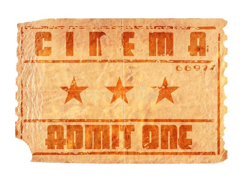 Biglietto invecchiato del cinematografo fotografie stock