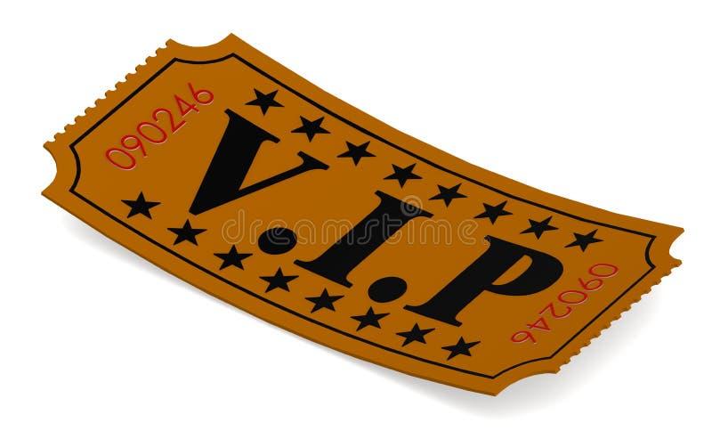 Biglietto isolato con la parola di VIP illustrazione di stock