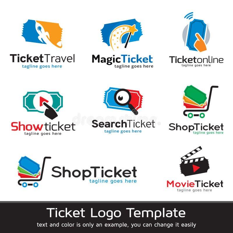 Biglietto Logo Template Design Vector illustrazione di stock