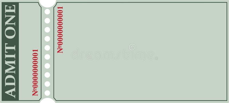 Biglietto nel vecchio stile illustrazione vettoriale