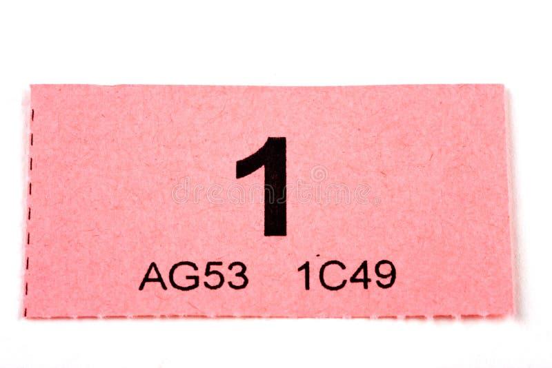 Biglietto numero 1 di Raffle fotografia stock libera da diritti