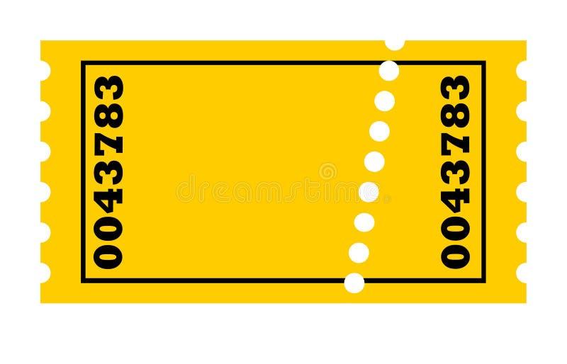 Biglietto perforato illustrazione vettoriale