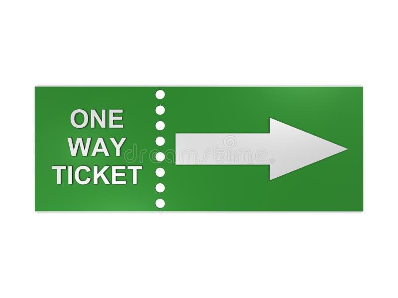 Biglietto unidirezionale illustrazione di stock