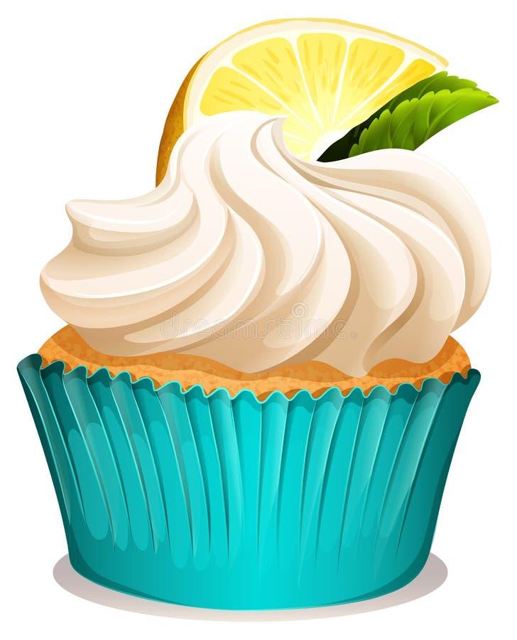 Bigné con crema ed il limone illustrazione vettoriale