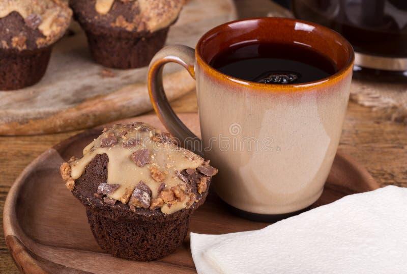 Bigné del burro di arachidi del cioccolato immagini stock libere da diritti