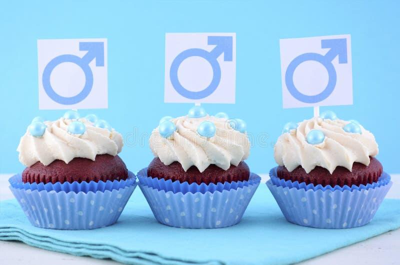 Bigné internazionali della giornata/uomo con i simboli maschii immagini stock libere da diritti