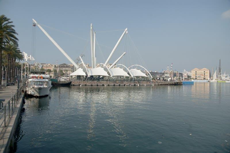 Bigo-Hafen in Genua-Italien lizenzfreie stockfotografie