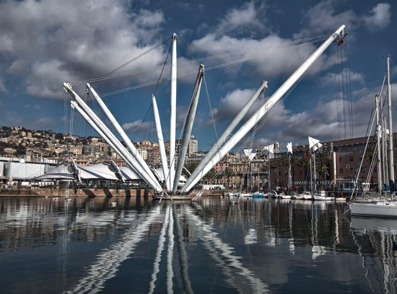 Bigo nel porto di Genoa Italy immagine stock libera da diritti
