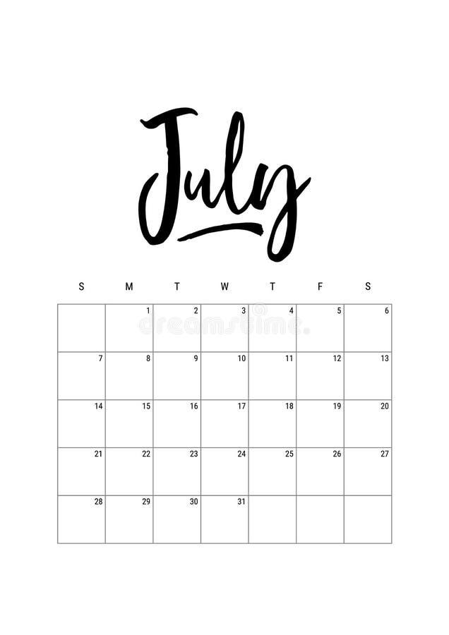 bigos Kalendarzowy planista 2019, tydzień zaczyna na Niedzieli Część sety 12 miesiąca Wektorowa ręka rysującego szablonu druku A4 ilustracja wektor
