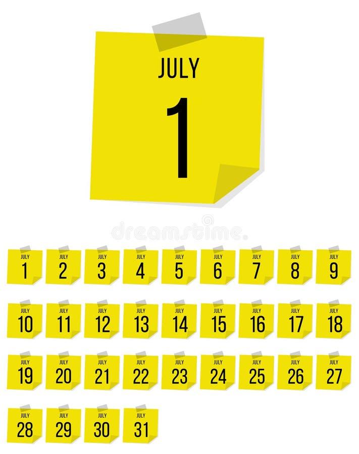 bigos Wektorowy płaski dziennego kalendarza set ikona DNIA miesi?ca rok ilustracji