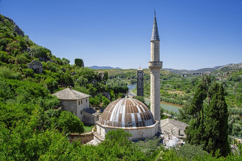 Ajji Alija mosque: built in 1563 by Hajji-Alija, son of Musa. It was repaired in the 17th century by Šišman Ibrahim pasha. The locals gave the mosque royalty free stock photo