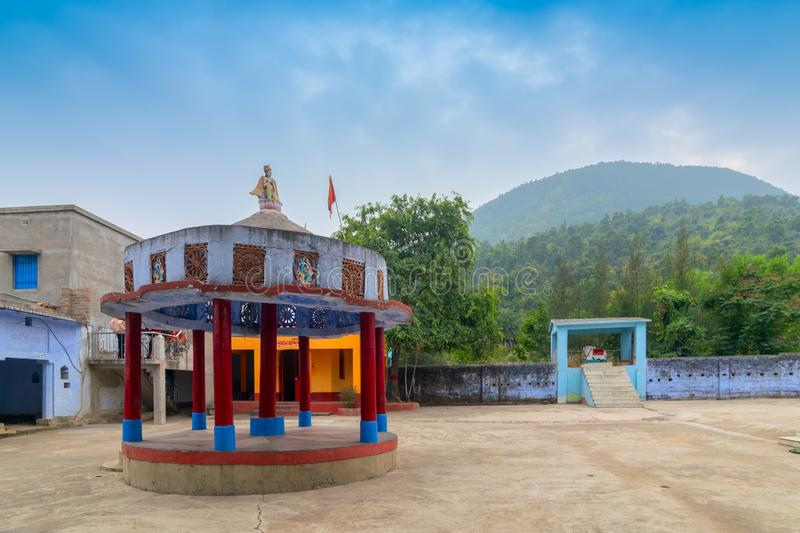 Biharinath temple at Bankura, West Bengal, India. BANKURA, WEST BENGAL , INDIA - DECEMBER 24TH 2015 : Biharinath temple is at the top of the Biharinath hill. A royalty free stock photos