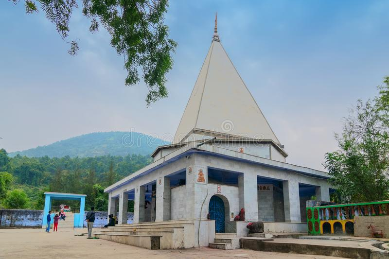 Biharinath temple at Bankura, West Bengal, India. BANKURA, WEST BENGAL , INDIA - DECEMBER 24TH 2015 : Biharinath temple is at the top of the Biharinath hill. A stock photography