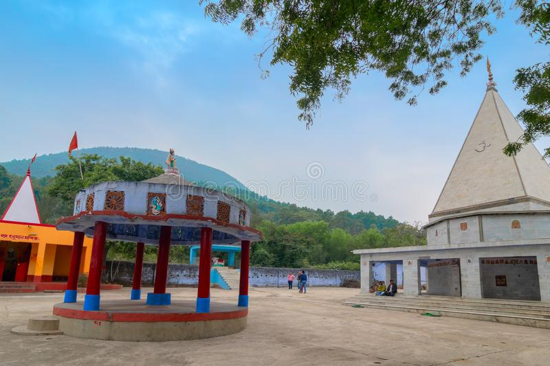 Biharinath temple at Bankura, West Bengal, India. BANKURA, WEST BENGAL , INDIA - DECEMBER 24TH 2015 : Biharinath temple is at the top of the Biharinath hill. A stock photo