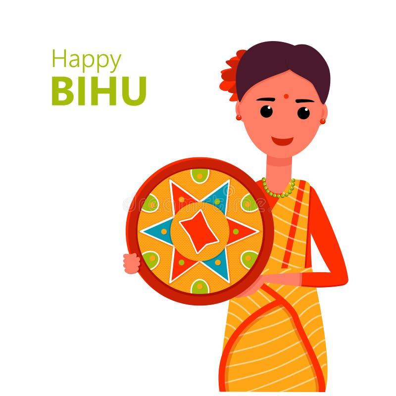Bihu, ejemplo del vector Festival indio ilustración del vector