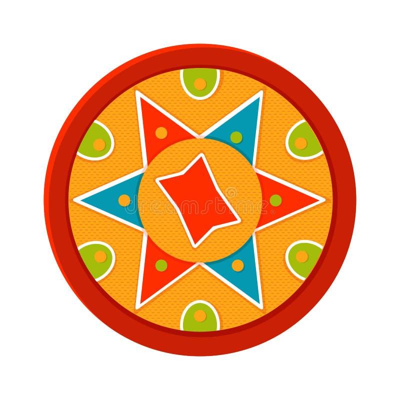 Bihu, vectorillustratie Indisch festival assam vector illustratie