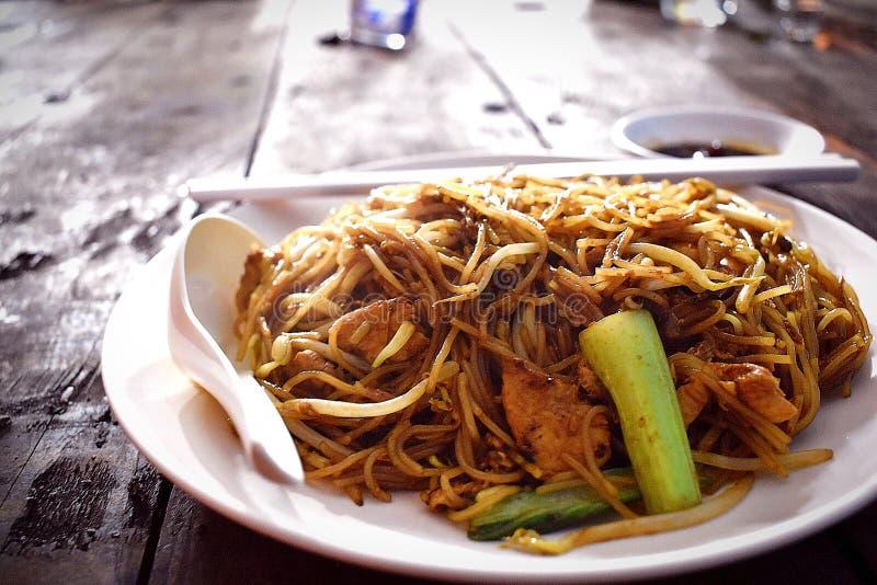 Bihun Goreng ou Fried Bee Hoon Noodle imagem de stock